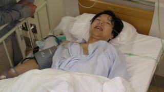 自然気胸手術直後|大垣市民病院にて