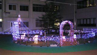 中庭がクリスマスモード|大垣市民病院